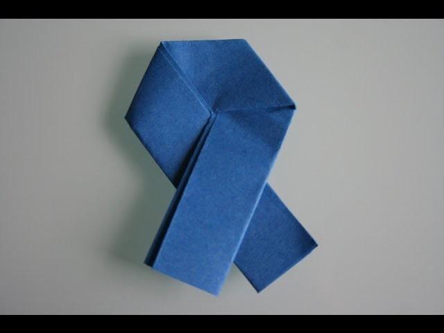 Origami ribbon letter