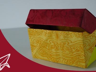 Origami Schachtel mit Deckel - Faltanleitung