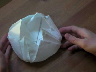 Origami tutorial - Lotus flower