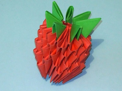 Origami Tutorials 3D How To Make A Strawberry Fun