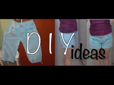 Pantalón Niña a Short Adulto #costura fácil, DIY Small to Big Pants easy #sewing