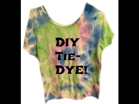 Pintober DIY Tie Dye with Acrylic Paint! Pinterest Inspired *EASY* Tutorial