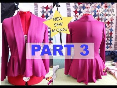 Sew Along: M6844 Part 3 - DIY Peplum Cardigan