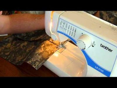Sewing a DIY Hammock Ridge Line Organizer. mpg