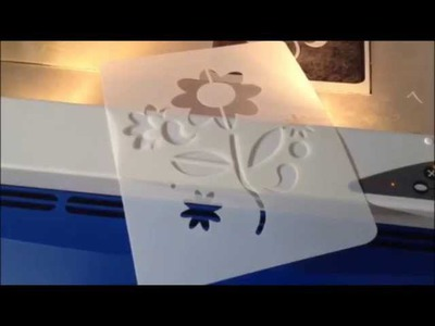 Stencil Video How We Make a Stencil Template For Fabric, Walls, Scrapbook