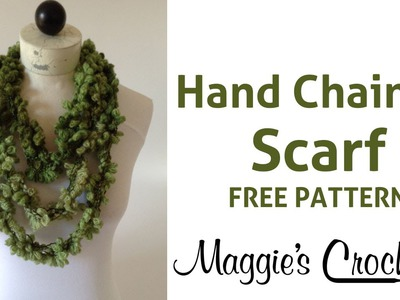 Super Easy 5 Minute Starbella Flowers Hand Chained Scarf (Single & Double) - Right Handed