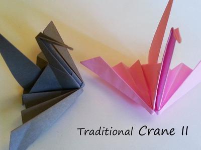 Traditional Origami Crane II: tutorial