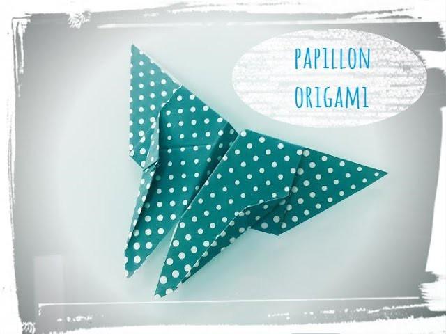 Tuto papillon origami
