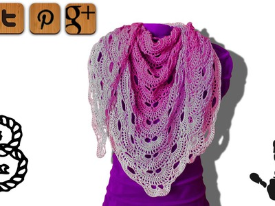 Virus shawl crochet tutorial part 3 - © Woolpedia