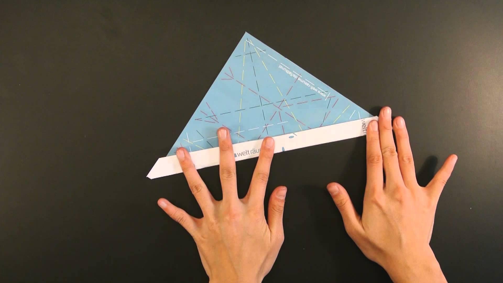 Weihnachtsgruß Origami - Mütze falten