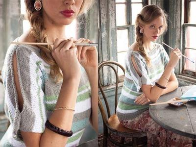 #8 Slit Shoulder Top, Vogue Knitting Spring.Summer 2012