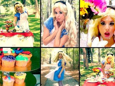 Adorable Alice in Wonderland Makeup & DIY Costume!