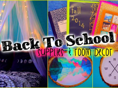Back to School DIY supplies & room decor