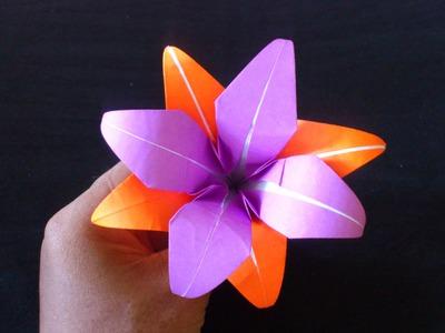 Cara Membuat Origami Bunga Lily Ganda | Origami Bunga dan Tanaman