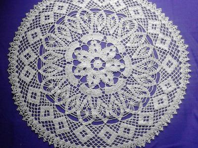Carpeta celeste crochet 2 de 3