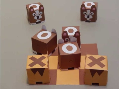 Cats vs Dogs: paper craft stop motion animation