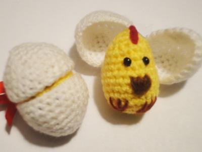 Цыплёнок в скорлупе Часть 1  Вязание крючком Chick in shell  Part 1 Crochet