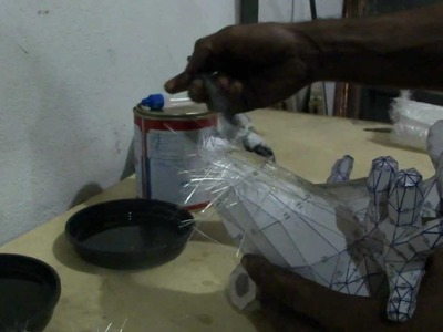 Como resinar papercraft - parte 1 - overdosegamer.blogspot.com.br