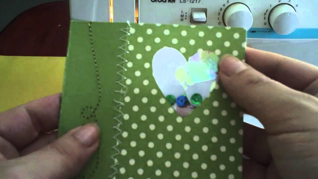 Costurar em Papel de Scrapbooking ou Cartões