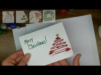 Craft: Make your own Glitter Christmas Cards!  (Part 1)