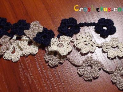 Crochet 5 Petal Floral Cord