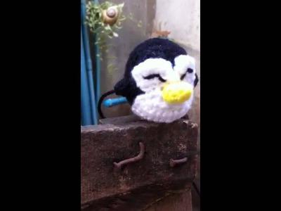 Crochet a cute penguin ( hand made )