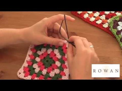 Crochet Tutorials - How to Join crocheted Granny Squares Together