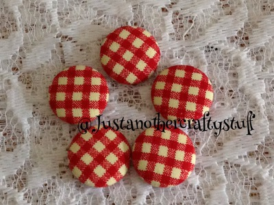 Cute DIY fabric covered buttons : DIY ideas & How-To crafts in seconds กระดุมผ้า  ทำมือแนวญี่ปุ่น
