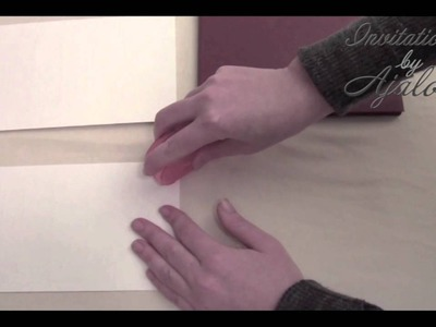 DIY: Attaching a Second Paper Layer to Your Wedding Invitation