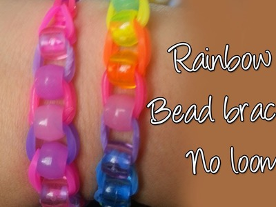 Diy Beaded Raimbow loom bracelet without loom, Easy Cute Bracelet