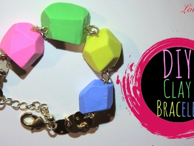 DIY Bracelet of Clay (Easy Tutorial) ポリマークレイ