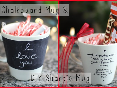 DIY Chalkboard Mug & DIY Sharpie Mug - Holiday Gift ⎮ Mademoiselle Ruta