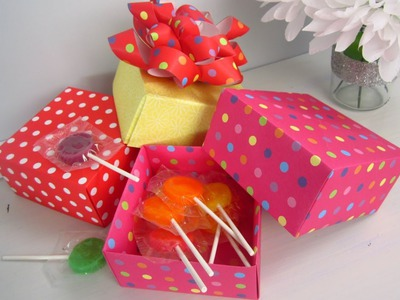{DIY Christmas} Origami Paper Gift Boxes