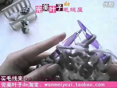 DIY 編織 織冷衫 教學 頸巾 課程      雙針   Woolen knit knitting