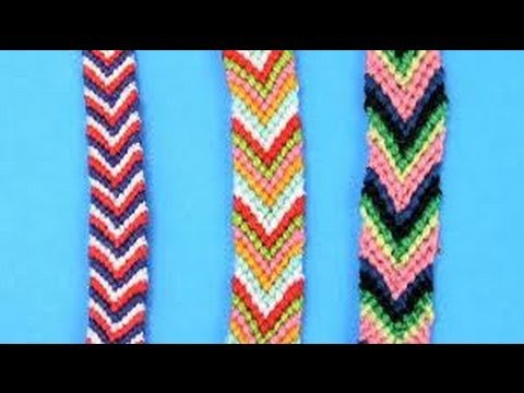 DIY Friendship Bracelets for Beginners ~ Chevron Stripe