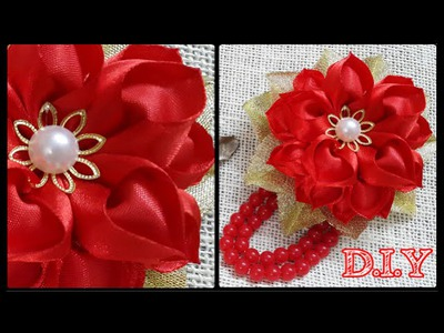 ♡ ❀ ♡ D.I.Y. Heart Shaped Petal Kanzashi Valentine's Day Flower ♡ ❀ ♡