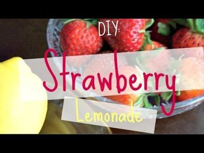 DIY: Homemade Strawberry Lemonade