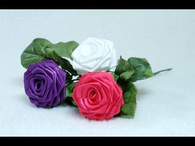 DIY, How to make Ribbon Rose, Taller, Tutorial, DIY