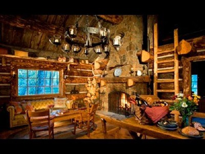 DIY Log cabin decorating ideas