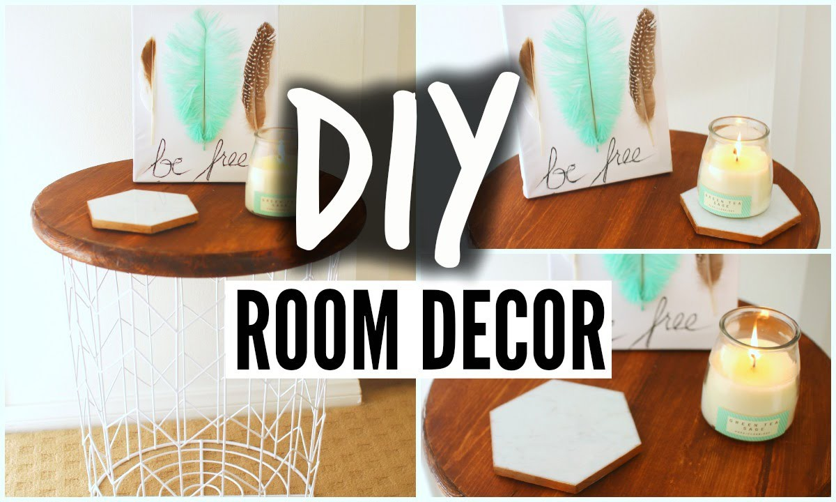 DIY Room Decor For Cheap! Tumblr Inspired Room Decoration!