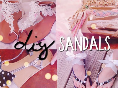 DIY Summer Sandals (4 styles) Redecorate. Restyle your Flip Flops!