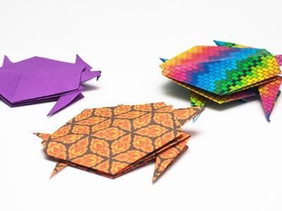 วิธีพับกระดาษเป็นรูปเต่าแบบง่าย Easy Origami Turtle