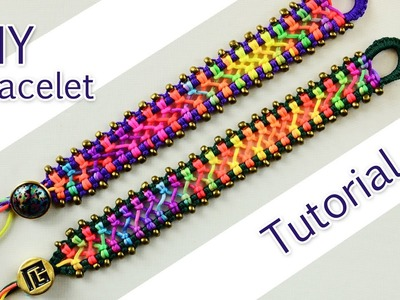 Easy Criss-Cross Bracelet Tutorial