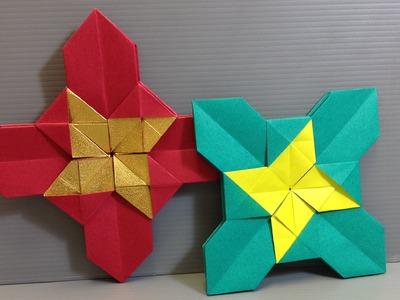 Easy Origami Christmas Castle Modular Cross