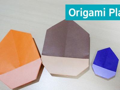 도토리 종이접기(도토리 만들기) Origami Acorn