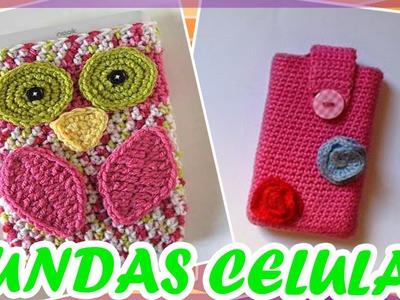 Fundas Celular Smartphone - Tejidas a Crochet