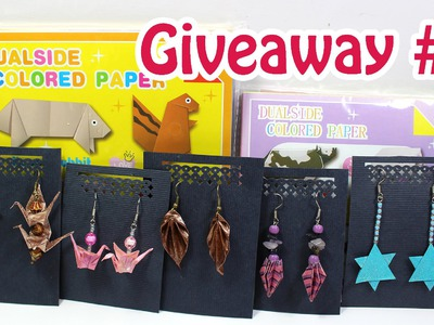 Holiday GIVEAWAY #1 Origami Paper Packs and Origami Jewelry (CLOSED)