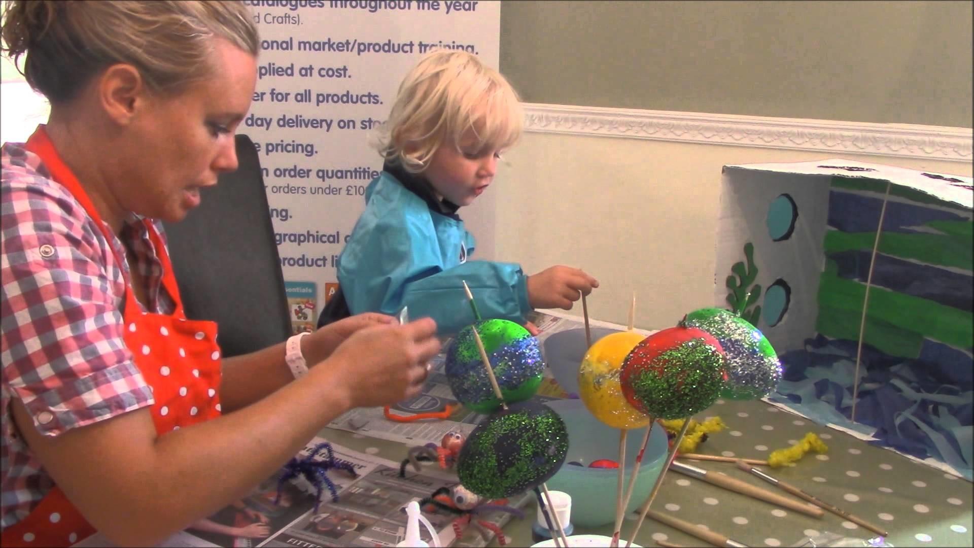 How to build a children's craft aquarium