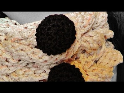 How to #crochet a button