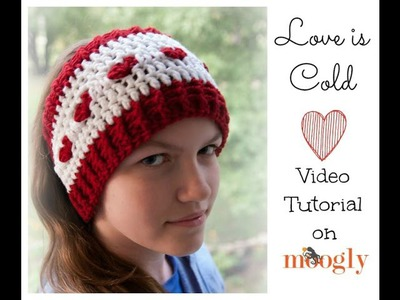 How to Crochet: Love Is Cold Ear Warmer (Right Handed)